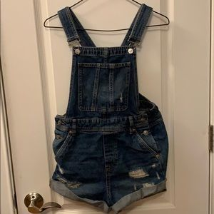 H & M Jean Short Overall